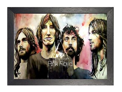 Pink Floyd 11 English Rock Band Poster Music Star Waters Wright On Stage Guitar