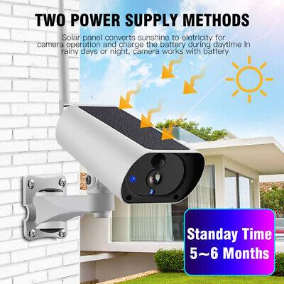 Solar Powered WiFi Wireless 1080P IP Camera IP67 Night Vision Security WANSCAM