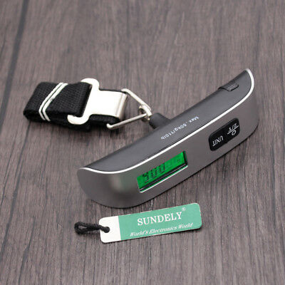 50kg Digital Electronic Hook Travel Portable Handheld Weighing Luggage Scale Bag