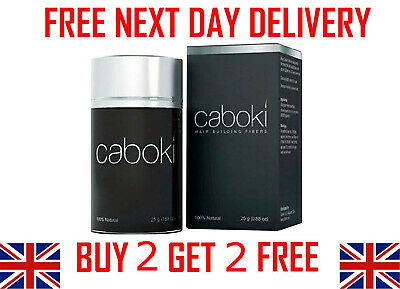 CABOKI Hair Loss Fibers 25g - Buy 2 Get 2 FREE + FREE NEXT DAY DELIVERY