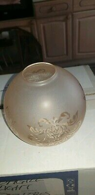 New Vintage Etched Frosted Glass Globe Lightshades 10 Available