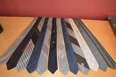 vtg skinny tie lot of 12 50's 60's hipster rockabilly mod narrow cool Mad Men