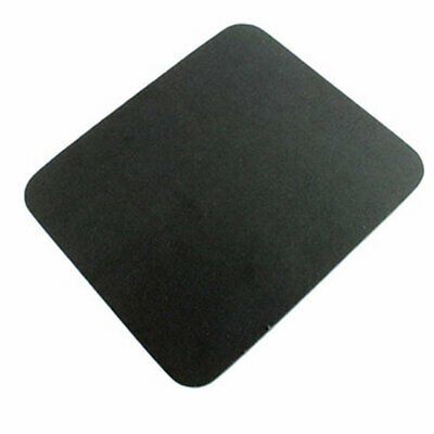BLACK Fabric Mouse Mat - Foam Backed - High Quality 5mm