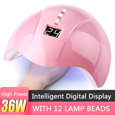 36W Nail Dryer Nail Light UV LED Gel Smart LED Quick-Drying Induction Nail Lamp