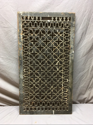 Antique Cold Air Return 34x19 Cast Iron Gothic Design Grate 351-19L