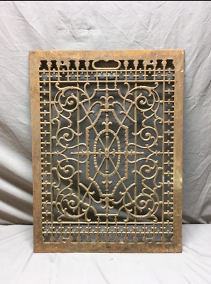 Antique Cold Air Return 31x24 Cast Iron Decorative Design Grate 352-19L