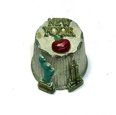 Hand Painted Hi-Relief New York City Pewter Thimble Statue Liberty