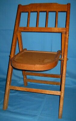 Vtg Antique Small Wood/Wooden Folding/Collapsible Childs Chair!