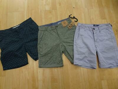 3eeb31d176 TOPMAN F&F TWISTED SOUL mens 3 PACK chino shorts blue green navy SIZE 30  WAIST