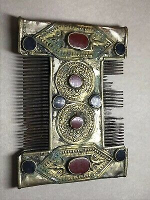 VERY RARE - Ancient Visigothic Silver, Brass And Bone Hair Comb.