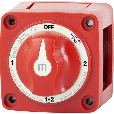 Blue Sea 6007 m-Series (Mini) Battery Switch Selector Four Position Red 6007