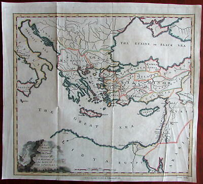 Biblical geography Acts of the Apostles Greece Turkey 1813 American Lewis map