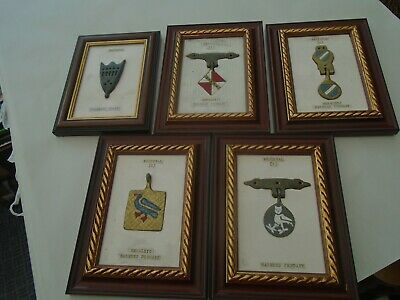 collection of 5 hand crafted metal medieval style horse pendants  UNUSUAL LOT
