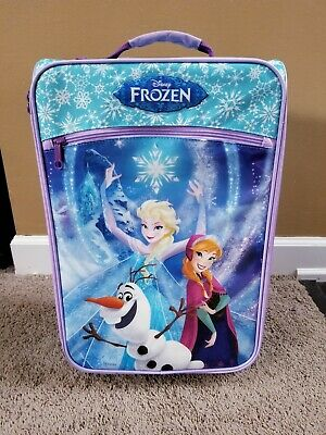 """American Tourister Kids Disney Frozen 18"""" Softside Rolling Suitcase Luggage"""