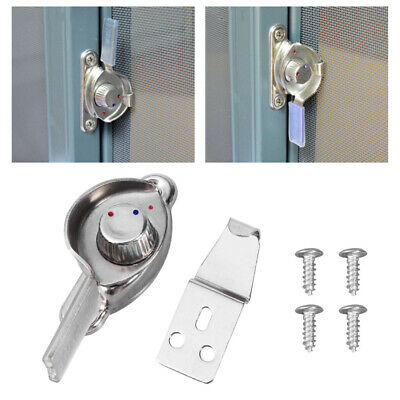 10pcs Crescent Lock Durable Stainless Steel Left Door Lock for Window Home Door