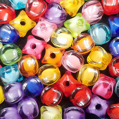 Corners Acrylic 100PCS Free 8mm lantern Four Loose Mixed color beads spacer Cut