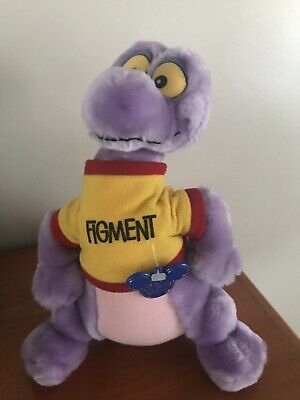"Vintage Disneyland WDW Disney Parks Exclusive Epcot Figment Plush Toy 10"" Dragon"