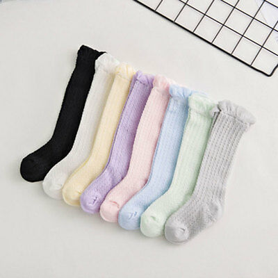 Toddler Kid Baby Girl's Knee High Long Socks Casual Stockings 0-3 Years Comely
