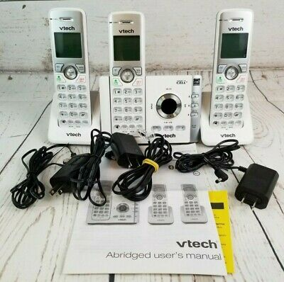 VTech DS6722-3 Dect 6.0 Cordless Phone Answering System Link to Cell 3 Handsets