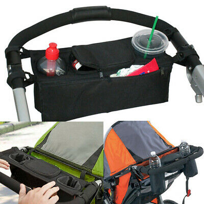 Pram Baby Stroller Cup Holder Bottle Cage Waterproof Storage Bag Organiser D1F3M