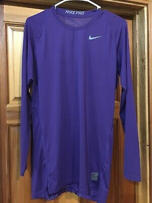 ff481af939739 NIKE Pro Dri-Fit Men's Long Sleeve Compression Shirt Purple Size XL Extra  Large