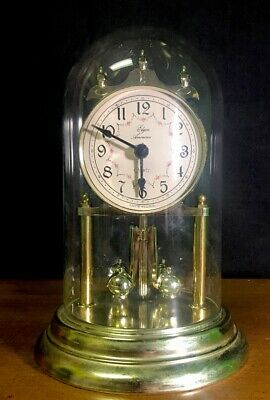 Vintage Elgin American Anniversary Clock With Glass Dome.Made In USA
