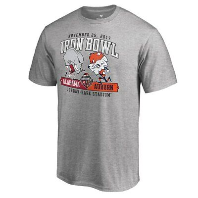 Fanatics Branded Alabama Crimson Tide vs. Auburn Tigers Heather Gray 2017 Iron