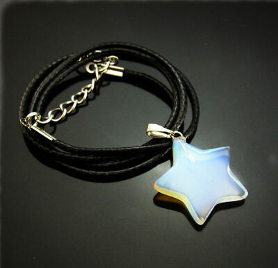 Charms Pendant gift gemstones Necklaces Natural Beads Reiki star Chakra opal