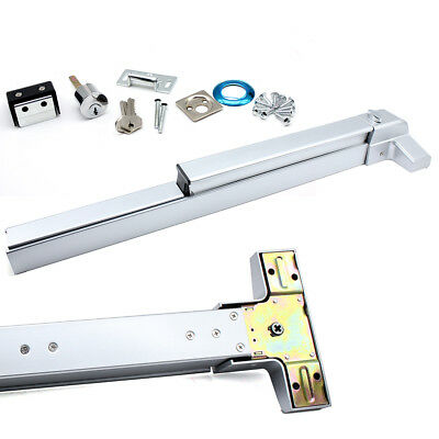 Door Push Bar Panic Exit Device with Lock Commercial Emergency Hardware 70N TOP!