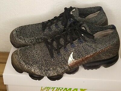 Nike Air Vapormax Flyknit Oreo White Black Rose Gold 849558- 010, Sz 13