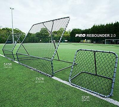 QUICKPLAY PRO Rebounder Football Trainer with Adjustable Angle Return Net