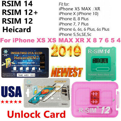 2019 NEW UNLOCK Turbo Sim Card For iPhone XS XS MAX XR X 8 7 6S 6