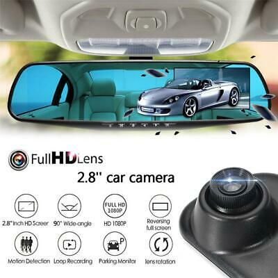 Car DVR Rearview Mirror 1080P HD Dash Cam Camera Video Recorder Motion Detection