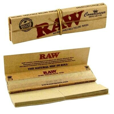 2 Packs Authentic Raw Connoisseur King Size Rolling Papers +Tips *USA Shipper*