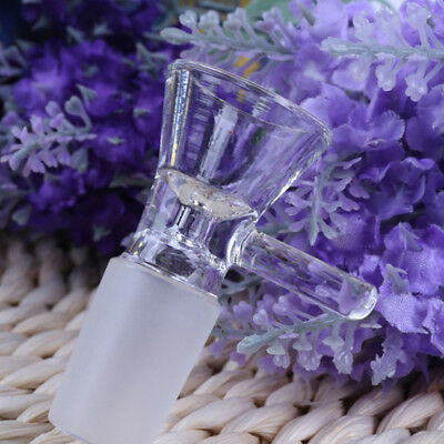 14MM / 18MM Clear Glass Bowl Male Joint Hookah Bongs Water Smoking Pipes For SU