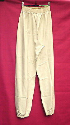 "white Malaysian rubber latex pants joggers M erotic bed wear  32"" to 48"" waist"