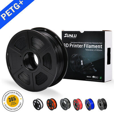 SUNLU 3D PETG Printer Filament 1.75mm 1KG/2.2LB Spool  PETG  Printer Consumable