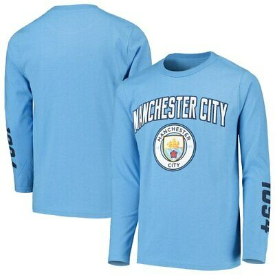 540b5ed7f Manchester City Youth Light Blue For the Club Long Sleeve T-Shirt