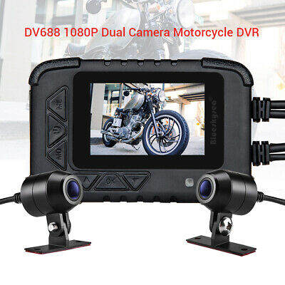 DV688 Motorbike Action Sports Dash Camera Dual Channel HD1080P Front & Rear Lens