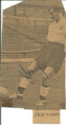 Football Autograph Jack Parry Derby County Signed Newspaper Photograph F1168