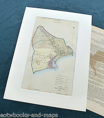 DOVER, 1837 - Mounted Antique Map & Report - Dawson / Boundary Commission.