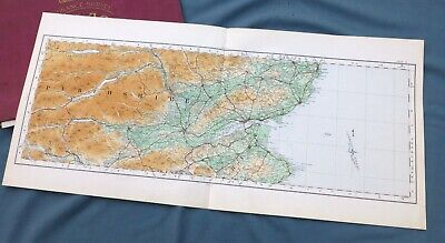 SCOTLAND, 1924 - Vintage Cloth OS Map, DUNDEE, PERTHSHIRE & THE TAY.