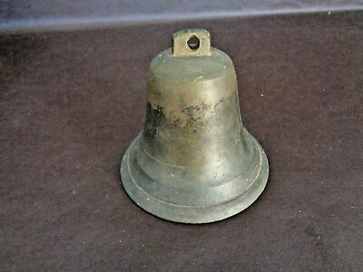 Vintage Bronze or Brass Bell Decorative Only (Missing Clapper) (Cat.#1B063)