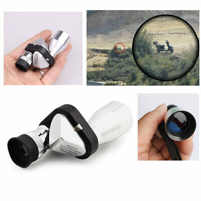 Mini Pocket 8x20 HD Corner Optical Monocular Telescope Eyepiece for Outdoor New