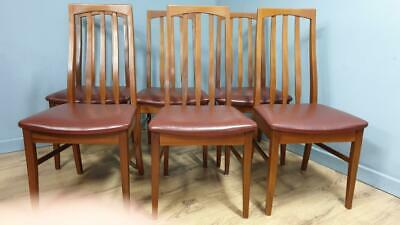 6 x Mid Century Teak Retro Dining Chairs by William Lawrence
