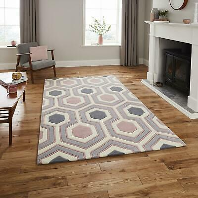 Modern Living Room Hexagonic Soft Deep Acrylic Pile Carpet Hong Kong HK3661 Rugs