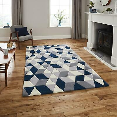 Modern Hong Kong HK3653 Rugs Contemporary Triangle Thick Soft Acrylic Pile Mats