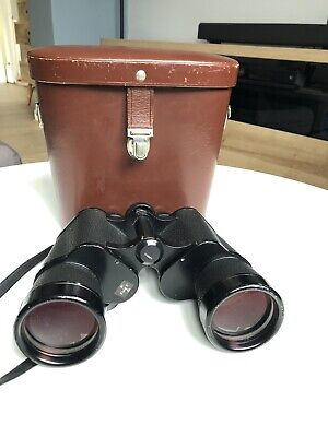 Vintage Carl Zeiss Jena 10x50w Binoculars and Leather Case