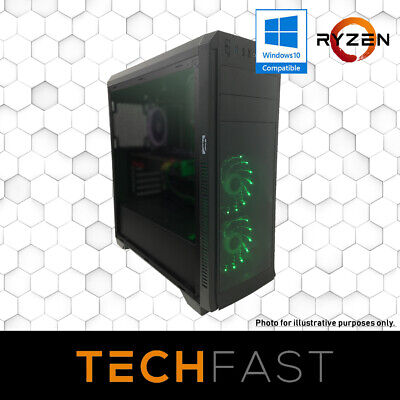 Ryzen 5 2600 RX 570 8GB 120GB SSD 8GB DDR4 Gaming Computer Desktop PC