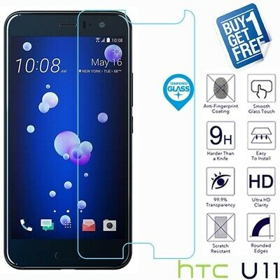 2 x For HTC U11 Geniune Tempered Glass Screen 9H Protector Film Cover Clear
